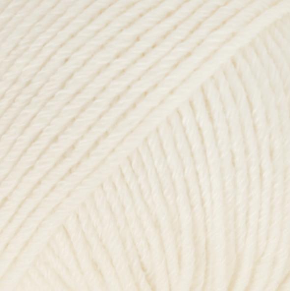 Cotton Merino Natur Hvid 01