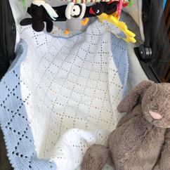 Lottes haeklede Babytaeppe gratis opskrift